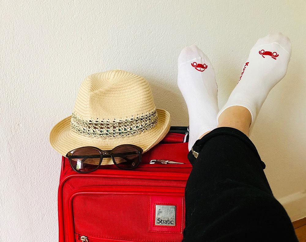 Füße hoch, die Koffer sind gepackt